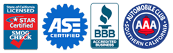 Star Certied Smog ASE Certified BBB Accredited AAA of Southern CA